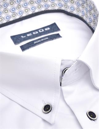 Ledub overhemd Modern Fit 0139922 in het Wit