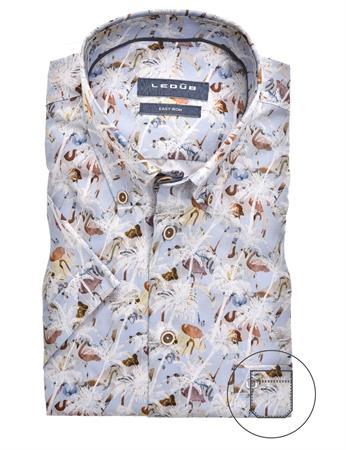 Ledub overhemd Modern Fit 0139930 in het Licht Blauw