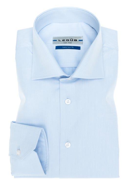 Ledub overhemd Tailored Fit 0033728 in het Licht Blauw