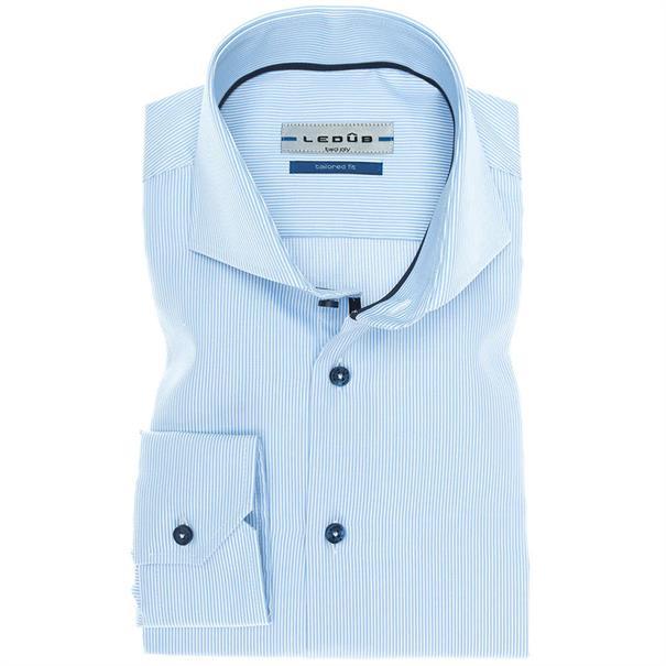 Ledub overhemd Tailored Fit 0136753 in het Blauw