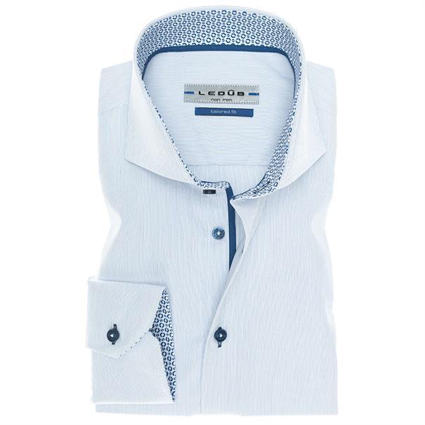 Ledub overhemd Tailored Fit 0136759 in het Blauw