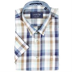 Ledub overhemd Tailored Fit 0136908 in het Blauw