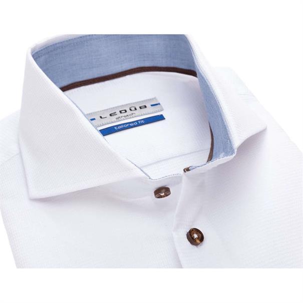 Ledub overhemd Tailored Fit 0137207 in het Geen kleur