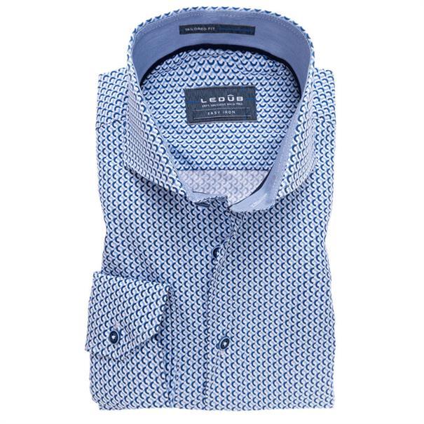 Ledub overhemd Tailored Fit 0137348 in het Blauw