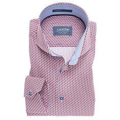 Ledub overhemd Tailored Fit 0137348 in het Rood