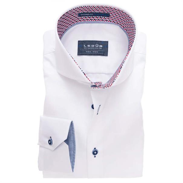 Ledub overhemd Tailored Fit 0137356 in het Geen kleur
