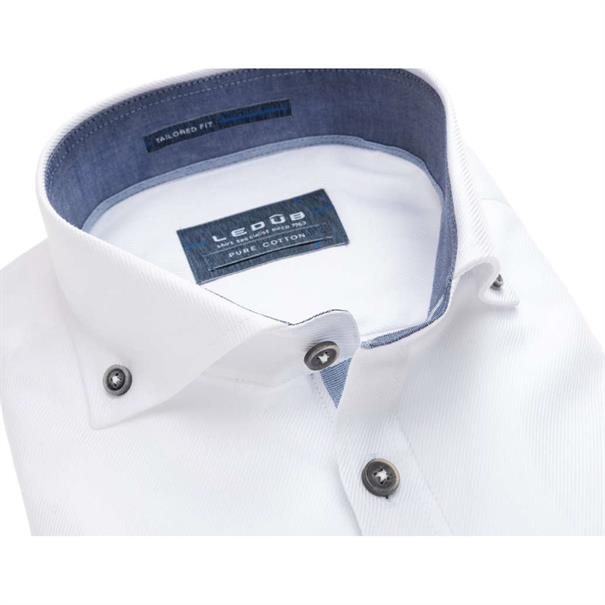 Ledub overhemd Tailored Fit 0137461 in het Geen kleur