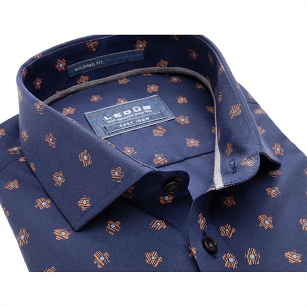 Ledub overhemd Tailored Fit 0137511 in het Geel