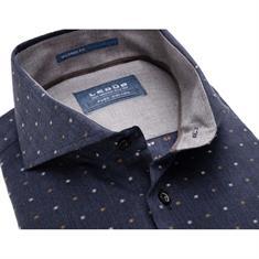 Ledub overhemd Tailored Fit 0137552 in het Donker Blauw