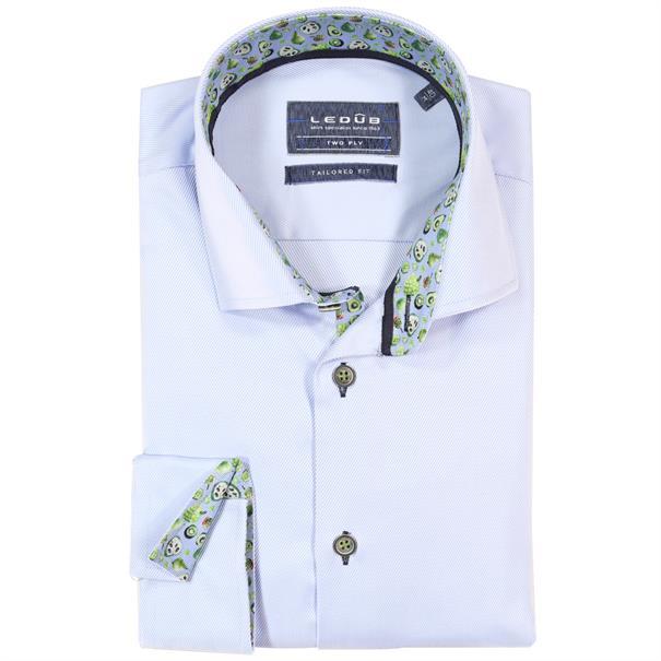 Ledub overhemd Tailored Fit 0137806 in het Licht Blauw