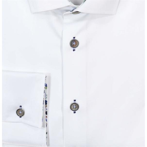 Ledub overhemd Tailored Fit 0137820 in het Wit