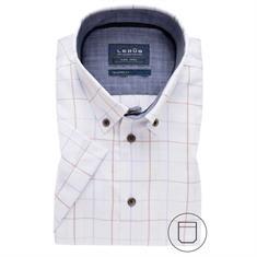 Ledub overhemd Tailored Fit 0137862 in het Wit/Beige