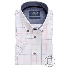 Ledub overhemd Tailored Fit 0137868 in het Wit/Blauw