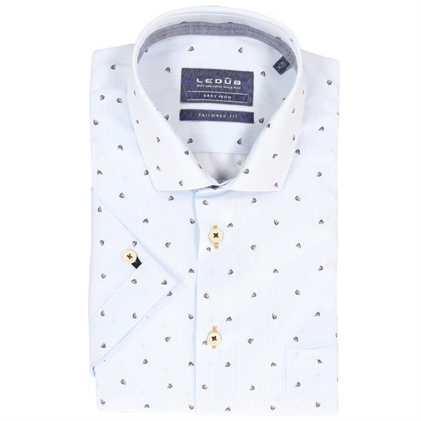 Ledub overhemd Tailored Fit 0137888 in het Beige