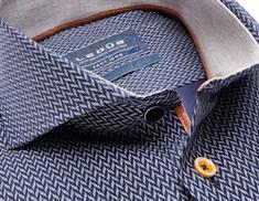 Ledub overhemd Tailored Fit 0138221 in het Donker Blauw