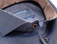 Ledub overhemd Tailored Fit 0138331 in het Donker Blauw