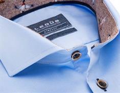 Ledub overhemd Tailored Fit 0138331 in het Licht Blauw