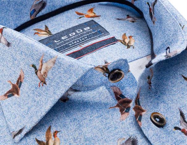 Ledub overhemd Tailored Fit 0138338 in het Licht Blauw