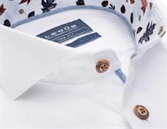 Ledub overhemd Tailored Fit 0138456 in het Wit/Blauw