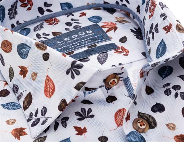Ledub overhemd Tailored Fit 0138463 in het Blauw