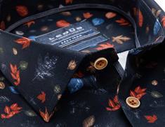 Ledub overhemd Tailored Fit 0138463 in het Donker Blauw