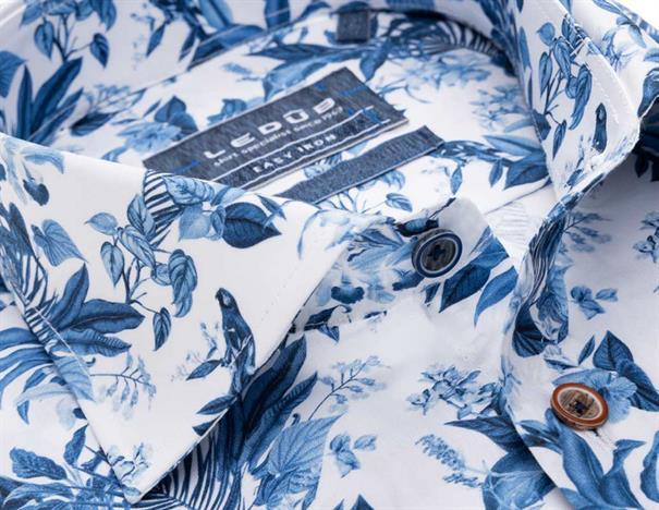 Ledub overhemd Tailored Fit 0138605 in het Blauw