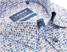 Ledub overhemd Tailored Fit 0138644 in het Donker Blauw