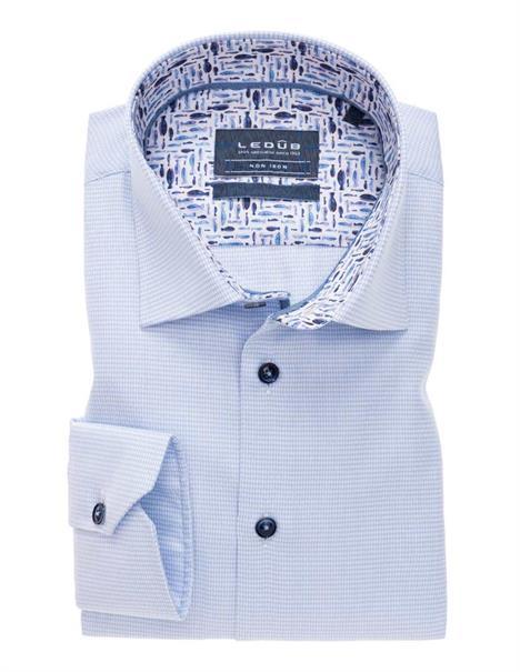 Ledub overhemd Tailored Fit 0138676 in het Licht Blauw