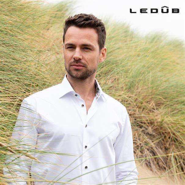 Ledub overhemd Tailored Fit 0138928 in het Wit