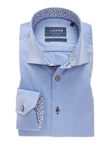 Ledub overhemd Tailored Fit 0138955 in het Blauw