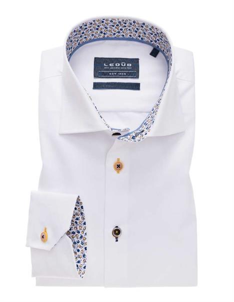 Ledub overhemd Tailored Fit 0138955 in het Spierwit