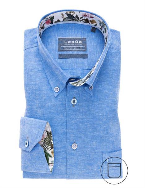 Ledub overhemd Tailored Fit 0138988 in het Blauw
