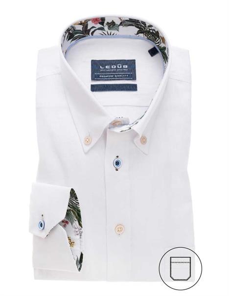 Ledub overhemd Tailored Fit 0138988 in het Wit