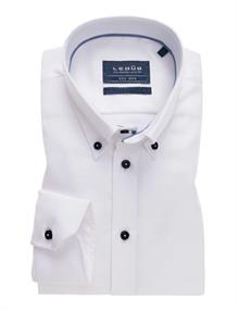 Ledub overhemd Tailored Fit 0139093 in het Wit/Blauw