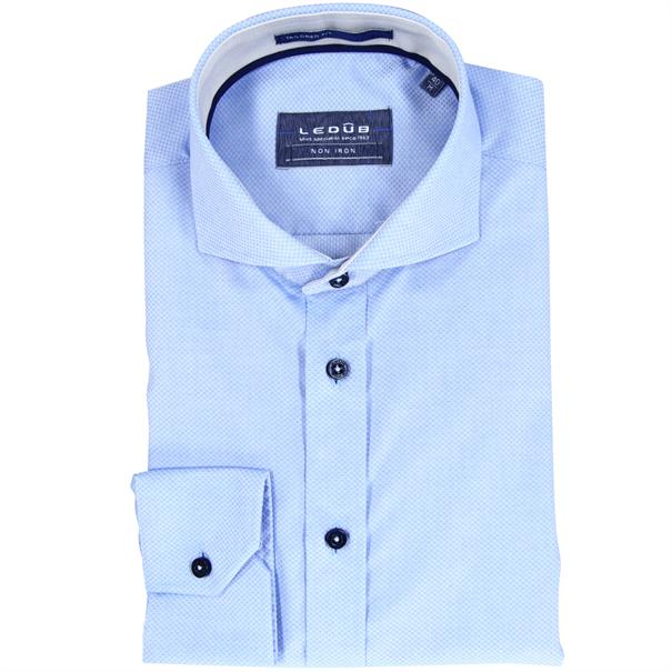 Ledub overhemd Tailored Fit 0510977 in het Licht Blauw