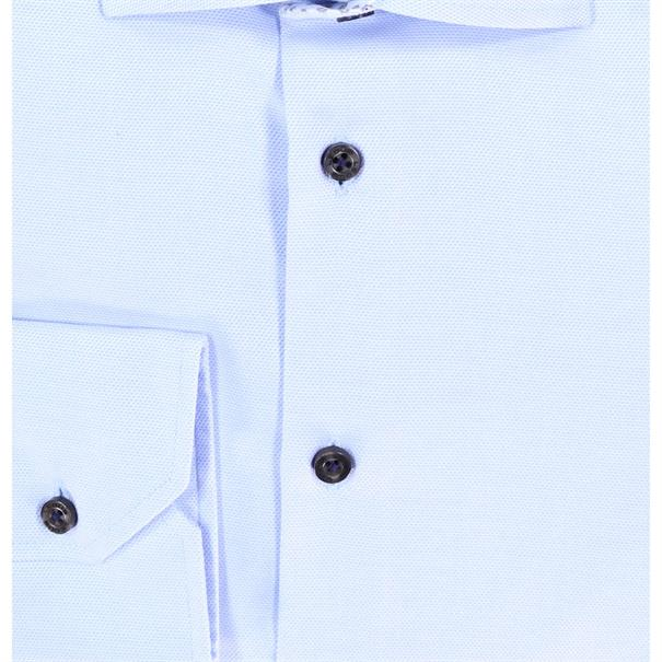 Ledub overhemd Tailored Fit 0511156 in het Licht Blauw