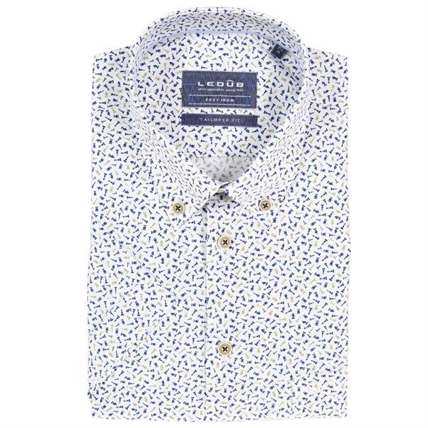 Ledub overhemd Tailored Fit 0511200 in het Blauw