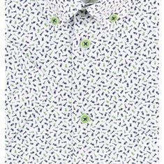 Ledub overhemd Tailored Fit 0511200 in het Groen