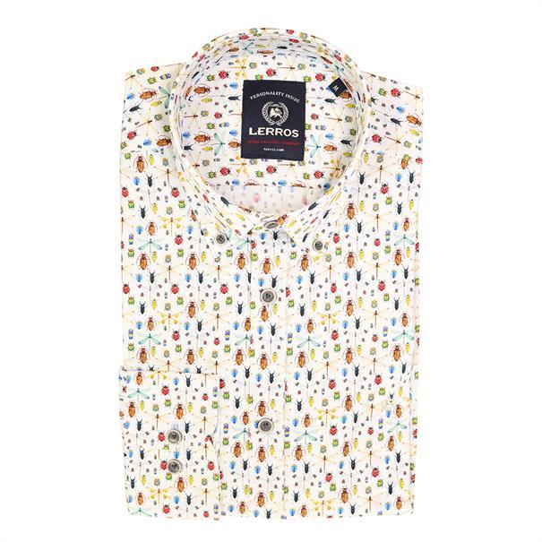 Lerros casual overhemd Regular Fit 2021128t in het Blauw