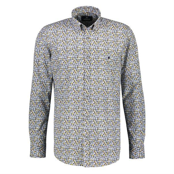 Lerros casual overhemd Regular Fit 2081156T in het Geel