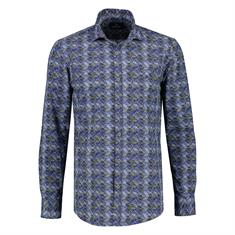 Lerros casual overhemd Regular Fit 2081354T in het Donker Blauw