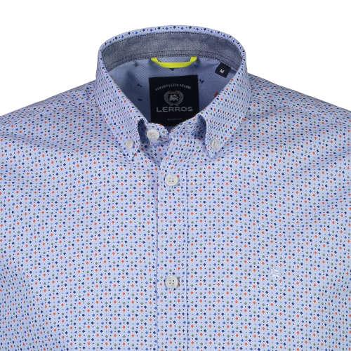 Lerros casual overhemd Regular Fit 29d1111 in het Licht Blauw