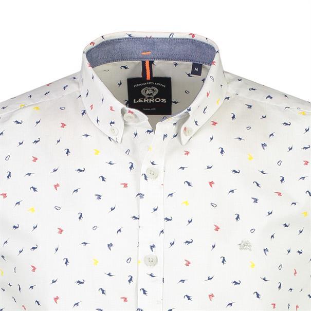 Lerros casual overhemd Regular Fit 29n1187 in het Wit