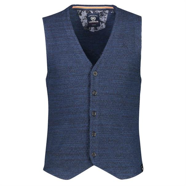 Lerros gilet Regular Fit 2985616 in het Blauw