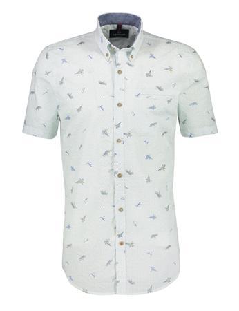 Lerros overhemd 2132149 in het Wit