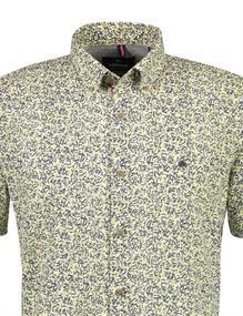Lerros overhemd 2142160 in het Geel