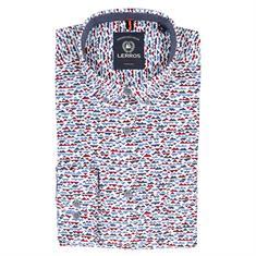 Lerros overhemd 29o1172 in het Rood