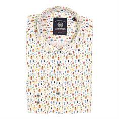 Lerros overhemd Regular Fit 2021128t in het Blauw
