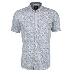 Lerros overhemd Regular Fit 2022131 in het Wit/Blauw