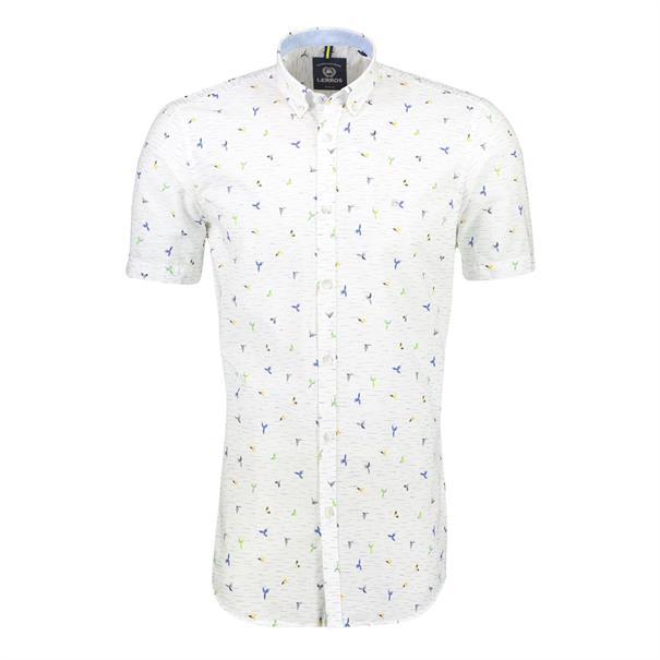 Lerros overhemd Regular Fit 2042186 in het Wit